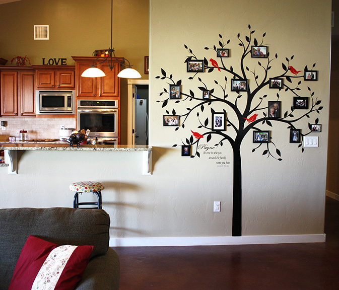 FAMILY TREE WALL DECALS Vinyl Tree Decal   Vinyl Tree Wall Decals